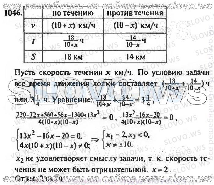 Решебник минорского номер 1046