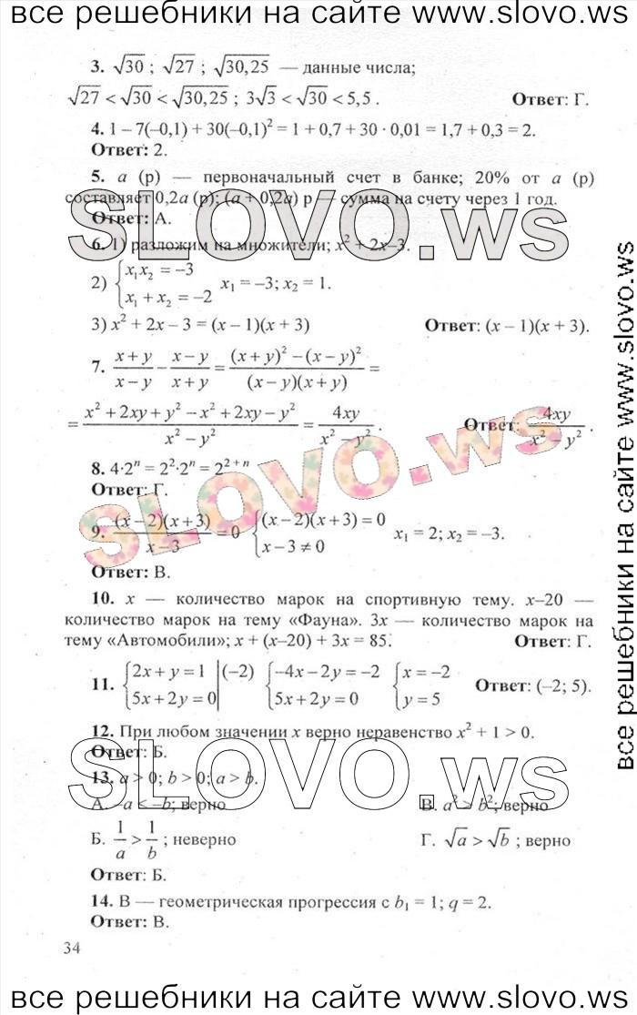 гдз по гиа алгебра кузнецова i 2019