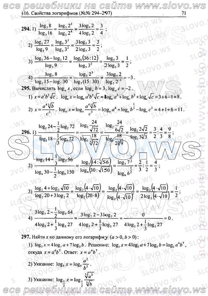 алгебра 10 скачать гдз алимов