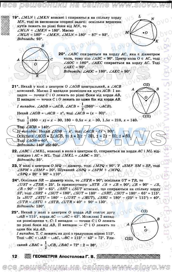 Апостолова Геометрія 9 Клас Решебник
