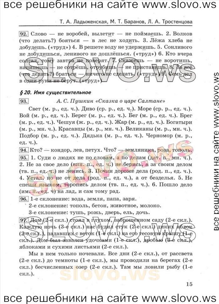 русскому языку м.т. по скачать баранов гдз