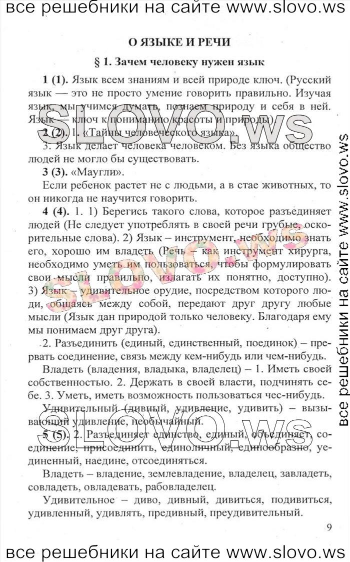 ГДЗ и Решебник по Русскому Языку 7 класс