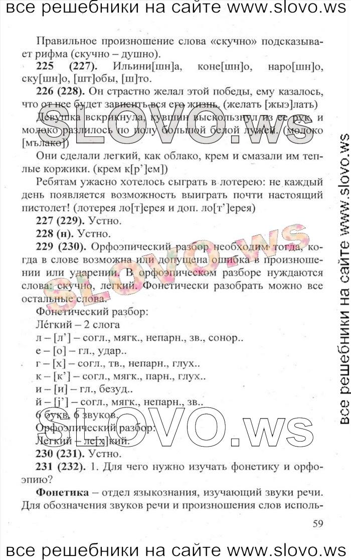 львова русский учебник язык класс гдз 6 разумовская капинос