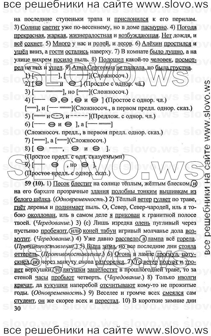гдз по русскому языку бархударов 8 класса: