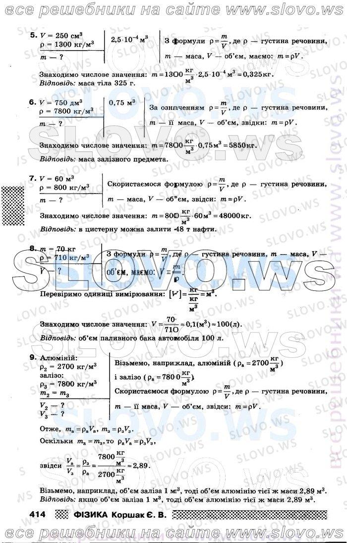 Страница решебника № 012, Физика, 8 класс (Е.В. Коршак)