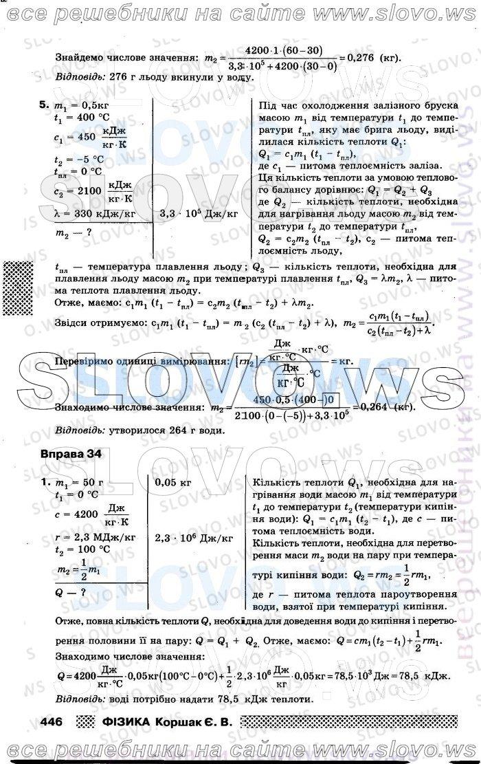 Страница решебника № 044, Физика, 8 класс (Е.В. Коршак)