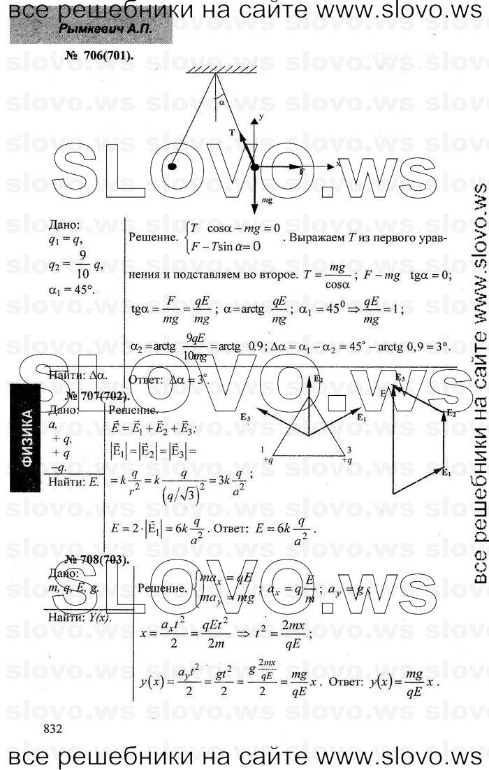 Решебник по физике 8-10 классов а.п.рымкевич 10