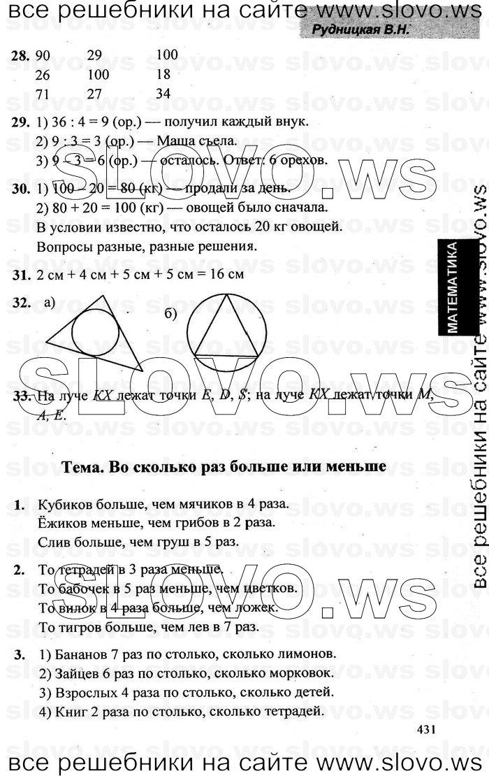 Математика 2 класс 2 часть гдз рудницкая юдачева 2 часть учебник ответы