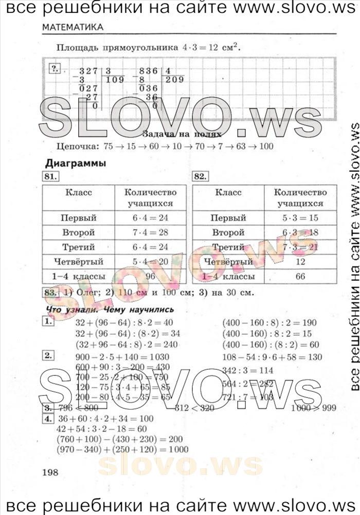 Решение примера № 018, Математика, 4 класс (М.И. Моро, М.А. Бантова, Г.В. Бельтюкова) 2013