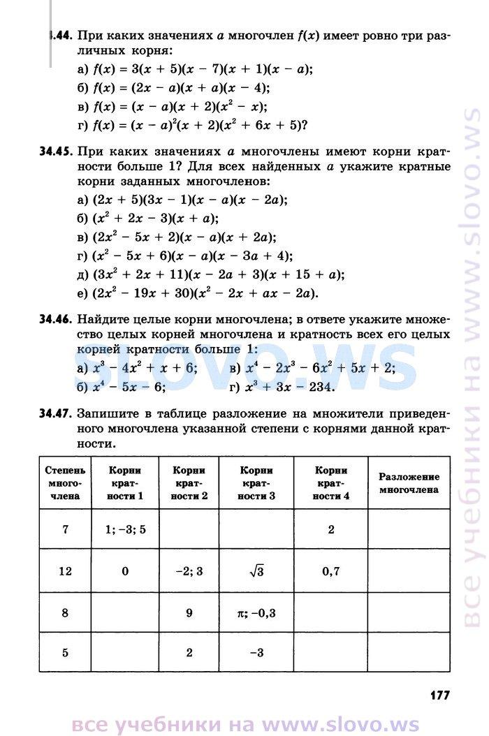 Решебник по алгебре(повышенный уровень) 8 класс мордкович звавич рязановский александрова