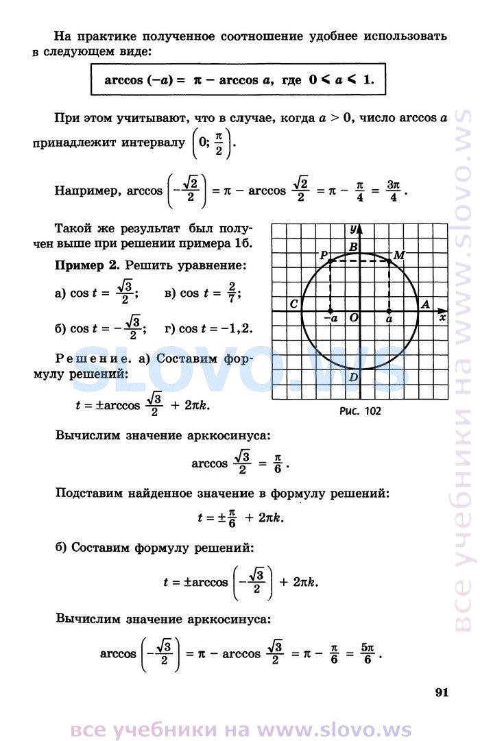 Класс мордкович по уровень математике гдз базовый 11