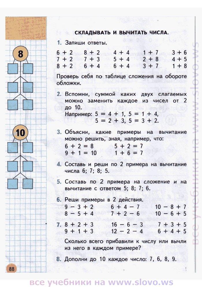 Решебник 2 Класса Задачи И Примеры