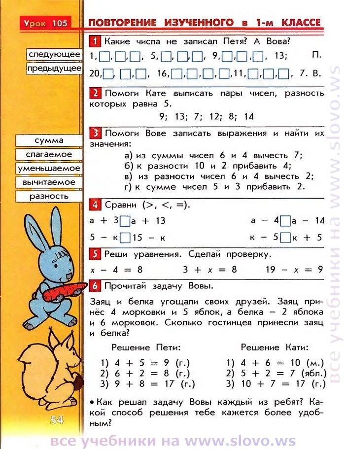 математика гдз баласс класс часть 3 2