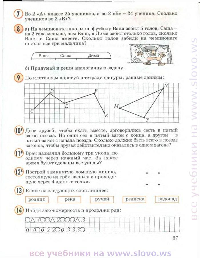 Все ГДЗ по Математике 4 Класс Тетрадь 2 Часть